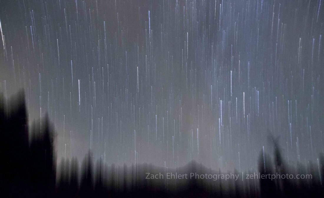 Falling Skies - Single Exposure Photograph by Zach Ehlert